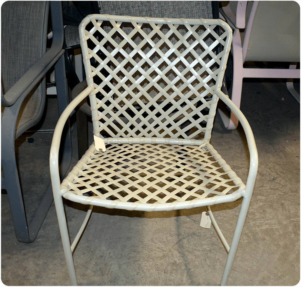 Outdoor Furniture Restoration And Repair Patio Chair Vinyl Strap Replacement