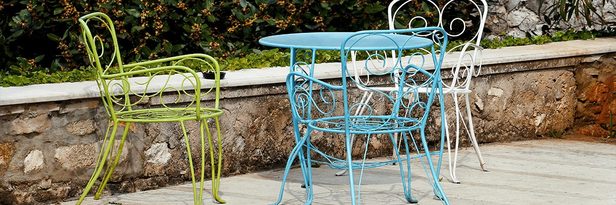sandblasting garden furniture